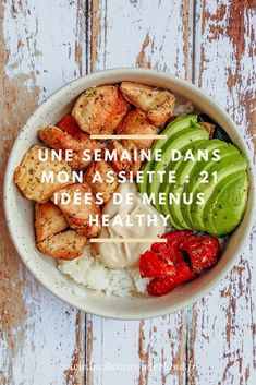 21 balanced meal ideas - Lucile in Wonderland- 21 idées de repas équilibrés – Lucile in Wonderland 1 week on my plate # 21 balanced meal ideas - Menus Healthy, Easy Healthy Recipes, Healthy Snacks, Easy Meals, Healthy Eating, Diet Snacks, Batch Cooking, Cooking Recipes, Dairy Recipes