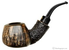 If I had an extra $112, this one would be on its way to my house tonight.  Winslow Crown Partially Rusticated Bent Apple Sitter (Viking) Pipes at Smoking Pipes .com