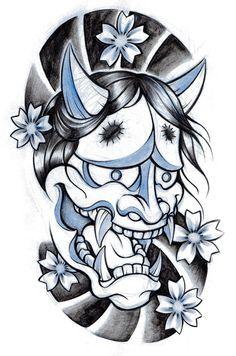 tattoo mascaras japonesas - Pesquisa Google