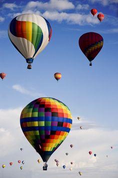 new mexico, Albuquerque international balloon fiesta...this happens every October!