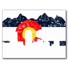 Denver Skyline Colorado Flag--blue for our bountiful blue skies, yellow for our sunny days, white for the snow capped peaks, and red for the red in our rich soil. Colorado Homes, Denver Colorado, Colorado Mountains, Rocky Mountains, Colorado Tattoo, Denver Skyline, Round Stickers, Love, Poster Prints