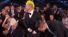 But then as they stood to walk to the stage, Tyler Joseph and Josh Dun...took off their pants.