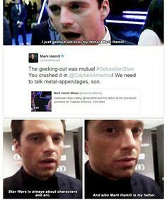 Sebastian Stan + Mark Hamil perfect.