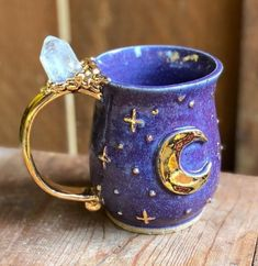 Clay Mugs, Ceramic Mugs, Ceramic Art, Pottery Mugs, Ceramic Pottery, You Are My Moon, Cute Coffee Mugs, Drink Coffee, Coffee Cups