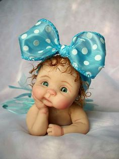 """❤ooak hand sculpted baby girl """"percilla"""" by: joni inlow* dolly-street❤ Cute Baby Dolls, Reborn Baby Dolls, Baby Fairy, Clay Baby, Polymer Clay Dolls, Toddler Dolls, Tiny Dolls, Little Doll, Doll Face"""