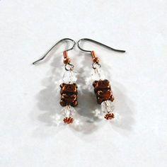Copper Teddy Bear Earrings | AussenWolfDesigns - Jewelry on ArtFire