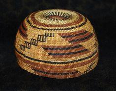 "KARUK HUPA or Yurok Woman's Ceremonial Hat Indian Basket 6 3 4""D x 3 1 4""H | eBay"