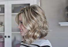 How to create soft waves in shorter hair. Click on the photo for the tutorial.