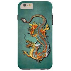 Cool Colorful Vintage Fantasy Fire Dragon Tattoo iPhone 6 plus case