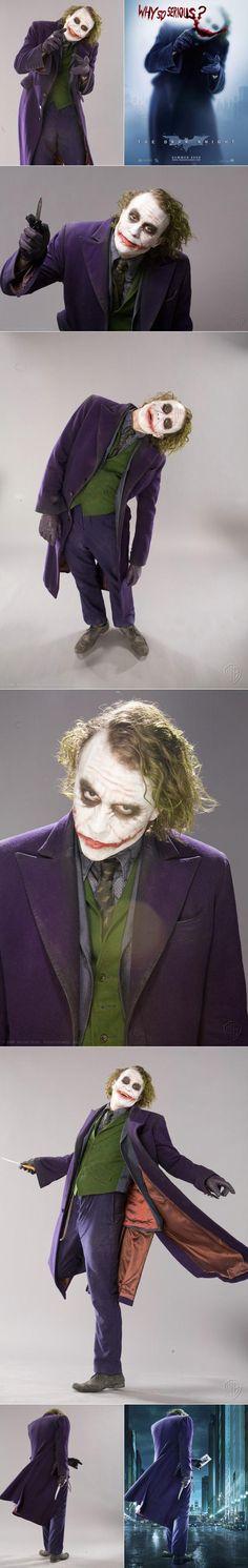 Fotos raras de Heath Ledger como o Coringo, o Joker, o Palhaço! xD