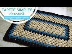 Tapete de crochet- tutorial em vídeo - Feltro e moldes para artesanato Crochet Table Mat, Crochet Carpet, Crochet Decoration, Crochet Videos, Chevron, Crochet Patterns, Make It Yourself, Blanket, Knitting
