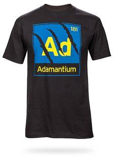 ThinkGeek :: Adamantium Tee    I guess I am in a Marvel mood?