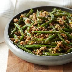 Szechuan Stir-Fried String Beans | These easy recipes for beans include baked beans, black bean soup and wax bean salad.