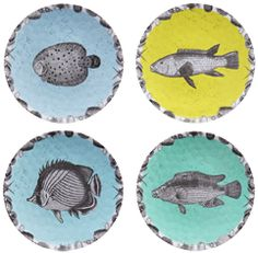 fish-plates from New Yorker Carol Fertig, who creates a delightful daily art postcard for us at OBJECT-LESSON. Check it out, it's brilliant and so delightful!