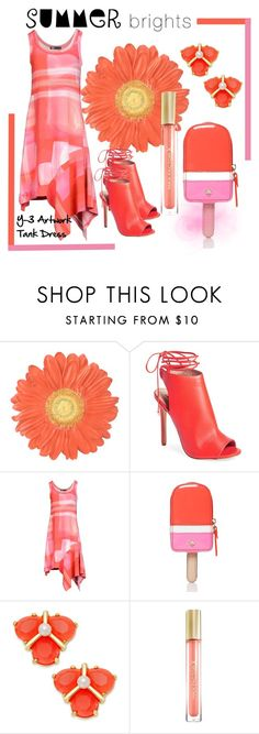 """Summer Brights"" by pixidreams ❤ liked on Polyvore featuring Topshop, Y-3, Kate Spade, Max Factor and summerbrights"