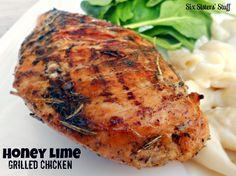 Honey Lime Grilled Chicken.  Just a few ingredients for an AMAZING meal!