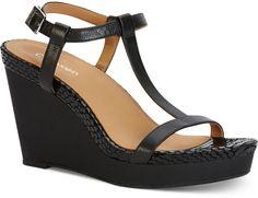 e42c6f9aec Calvin Klein Women's Jiselle Wedge Sandals - ShopStyle