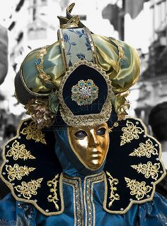 Venetian Style Costume - funerals professional actors would wear these masks to perform deeds of the lives of the ancestors,[