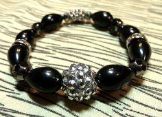 Black Obsidian Stone Bracelet by astonishinghandmade on Etsy, $18.00
