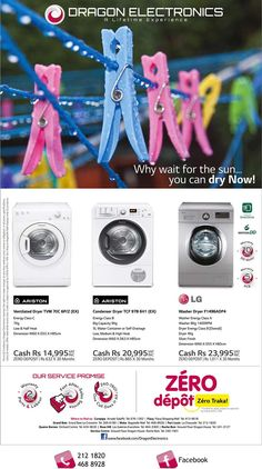 Dragon Electronics - Why wait for the sun, you can dry now. Please visit our shops now ! Info: 212 1820 / 468 8928
