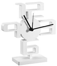 Umbra Small Time Desk Clock, White - casa.com