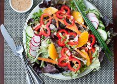 Orange Miso Vinaigrette by cafejohnsonia: Perfect on salad or roasted veggies. #Salad_Dressing #Vinaigrette #Miso #Orange #cafejohsonia