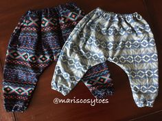 Denim harem pants for active kids