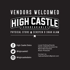 [Promo] @highcastledistro is calling for more vendors for their physical store in Shah Alam! We provide space for any clothings accessories snapbacks and more. Kindly contact - 0187782648 for more info.  Please recommend Singapore brand owners by leaving their usernames in my comment box below. I'm keen to explore brands from the Lion City for distribution in KL Klang Shah Alam area. We will manage postage within Malaysia as well. Kindly contact me: shop@imranajmain.com  #highcastledistro