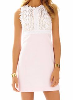 Lilly Pulitzer Breakers Lace Top Shift Dress