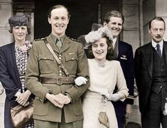 *KATHLEEN 'Kick' KENNEDY ~ marrying William 'Billy' John Robert Cavendish, Marquess of Hartington, on May 1944 at Chelsea Town Hall. Her eldest brother, second from right, U.S Navy Lt. Joseph P. Kennedy Jr gave her away. Joseph Kennedy Jr, Kathleen Kennedy, Les Kennedy, Jackie Kennedy, Kathleen Cavendish, The Duchess Of Devonshire, Mitford Sisters, Charles Spencer, Marquess
