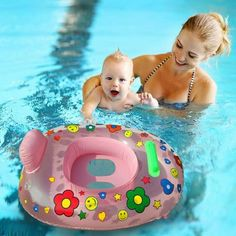 Baby Kids Inflatable Float Swimming Ring Seat Trainer Safety Aid Pool Water Toys
