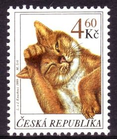 .Chech Republic Cat Stamp