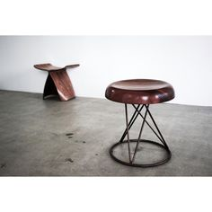 I've never seen this one before. Monjiro Stool by #SoriYanagi from 1974. The influence of #CharlottePerriand's Japan years is very evident. Image from @sign_tokyo