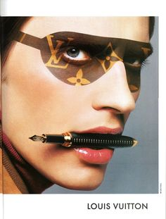 Ad for Louis Vuitton L' écriture from 1997.