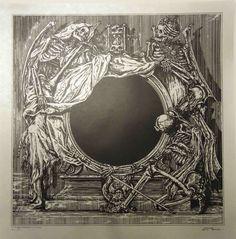 Watain: Lawless I - Serigraph print) - Zbigniew M. Macabre Art, Danse Macabre, Dark Artwork, Metal Artwork, Fantasy Kunst, Dark Fantasy Art, Necronomicon Lovecraft, Satanic Art, Occult Art