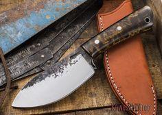 Lon Humphrey Knives: Custom Forged Knife - Curly Maple