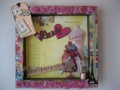 Check out this item in my Etsy shop https://www.etsy.com/listing/157699264/romantic-shadowbox-paris-shadowbox-cest