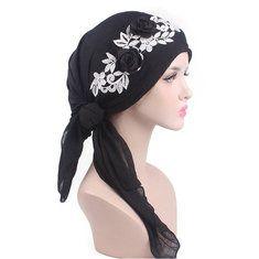 93ab25d43405d Women Flower Cotton Warm Beanies Cap Muslim Casual Hat - Banggood Mobile  Scarf Hat
