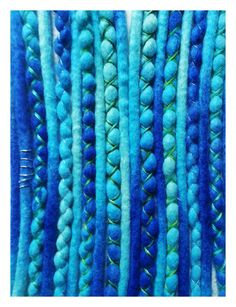 Wool dreads Sea-breeze by KatinkaDreads on Etsy