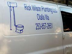 Here's a business van we put decals on.