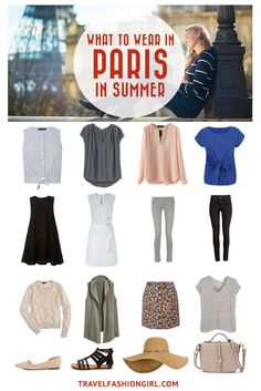 Traveling to Paris in the Summer? Use this comprehensive packing guide to help you pack stylishly light. | travelfashiongirl.com