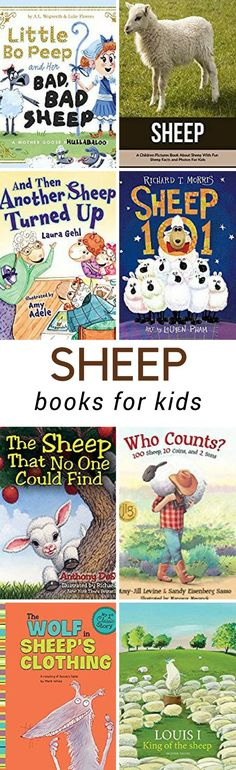 From cute stories to scientific education, these Sheep at the Farm Books for Kidsare sure to help you as you and your children learn about farm animals.  #booksforkids #atthefarm #unitstudy #sheep via @deals_3bd