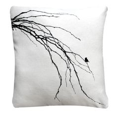 Dina Bird Cushion Cover – Black & White from Black & White - R189 (Save 31%)