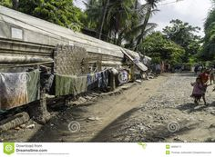 Street in slums of Mandalay City in Myanmar (Burma)