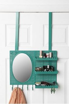 This would be great for dorm life-saves space and if you need a mirror while roomate is in the bathroom