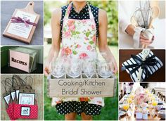 I think a kitchen themed shower is a fun and different way to celebrate the bride to be. The theme is adorable and can be applied in so many ways.