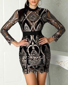 Women's Fashion Vestidos Bodycon Online Shopping – Chic Me Fashion Vestidos, Vestidos Sexy, Moda Fashion, Womens Fashion, Club Fashion, 1950s Fashion, Cheap Fashion, Fashion Fall, Ladies Fashion