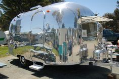 vintage trailers imagaes | 1967 Airstream Caravel Travel Trailer Buffed to a High Shine!