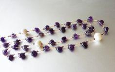 Gemstone Jewellery  Amethyst Necklace  Hand by Tatjanajewellery