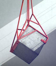 Measure by Fabrice Le Nezet - metal and concrete sculptures